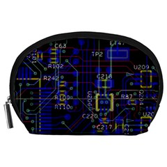 Technology Circuit Board Layout Accessory Pouches (large)