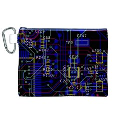 Technology Circuit Board Layout Canvas Cosmetic Bag (xl)