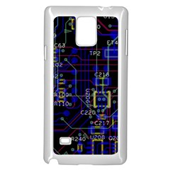 Technology Circuit Board Layout Samsung Galaxy Note 4 Case (white)