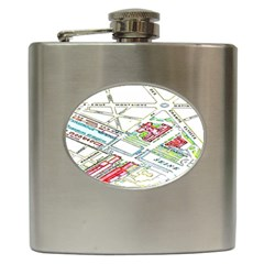 Paris Map Hip Flask (6 Oz)