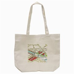 Paris Map Tote Bag (cream)