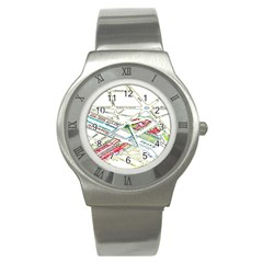 Paris Map Stainless Steel Watch