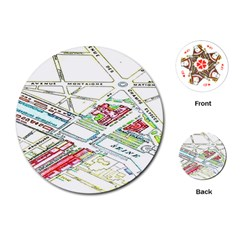 Paris Map Playing Cards (round)