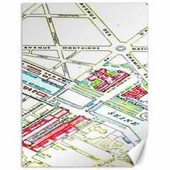 Paris Map Canvas 18  X 24