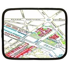 Paris Map Netbook Case (xxl)