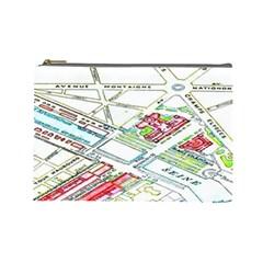 Paris Map Cosmetic Bag (large)