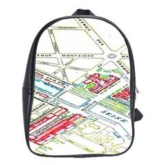 Paris Map School Bags(large)