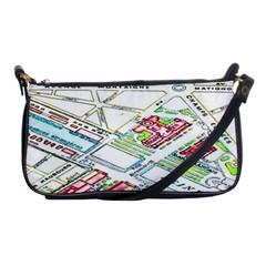 Paris Map Shoulder Clutch Bags