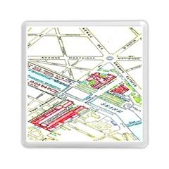 Paris Map Memory Card Reader (square)