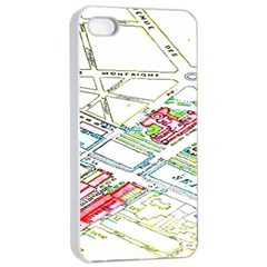 Paris Map Apple Iphone 4/4s Seamless Case (white)