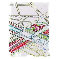 Paris Map Apple Ipad 3/4 Hardshell Case (compatible With Smart Cover)