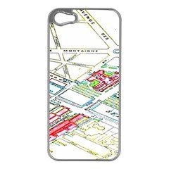 Paris Map Apple Iphone 5 Case (silver)