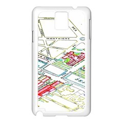 Paris Map Samsung Galaxy Note 3 N9005 Case (white)
