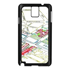 Paris Map Samsung Galaxy Note 3 N9005 Case (black)
