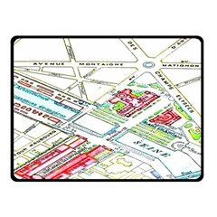 Paris Map Double Sided Fleece Blanket (small)