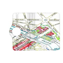Paris Map Kindle Fire Hd (2013) Flip 360 Case