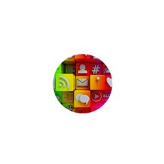 Colorful 3d Social Media 1  Mini Buttons
