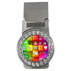 Colorful 3d Social Media Money Clips (cz)