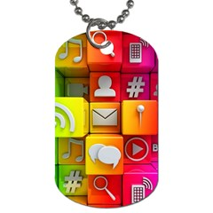 Colorful 3d Social Media Dog Tag (two Sides)