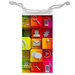 Colorful 3d Social Media Jewelry Bag
