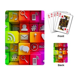 Colorful 3d Social Media Playing Card