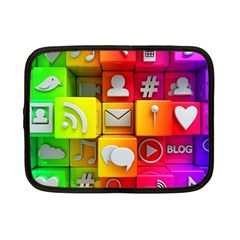Colorful 3d Social Media Netbook Case (small)