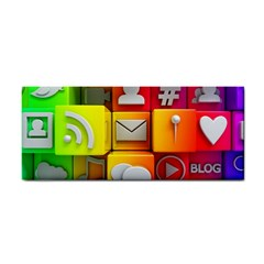 Colorful 3d Social Media Cosmetic Storage Cases