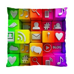 Colorful 3d Social Media Standard Cushion Case (one Side)