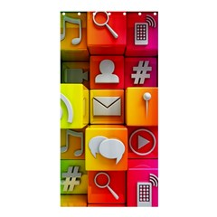 Colorful 3d Social Media Shower Curtain 36  X 72  (stall)