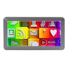 Colorful 3d Social Media Memory Card Reader (mini)