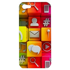Colorful 3d Social Media Apple Iphone 5 Hardshell Case