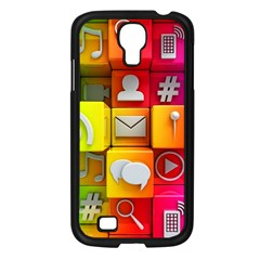 Colorful 3d Social Media Samsung Galaxy S4 I9500/ I9505 Case (black)
