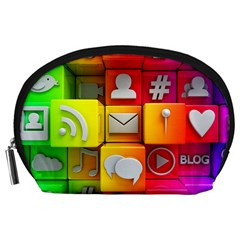 Colorful 3d Social Media Accessory Pouches (large)
