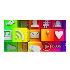 Colorful 3d Social Media Satin Wrap