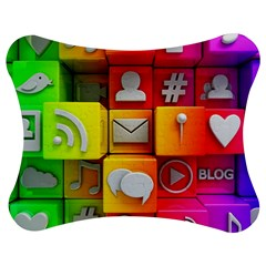 Colorful 3d Social Media Jigsaw Puzzle Photo Stand (bow)