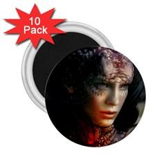 Digital Fantasy Girl Art 2 25  Magnets (10 Pack)