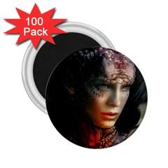 Digital Fantasy Girl Art 2 25  Magnets (100 Pack)