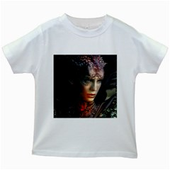 Digital Fantasy Girl Art Kids White T Shirts