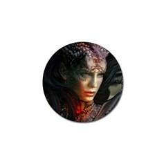 Digital Fantasy Girl Art Golf Ball Marker (10 Pack)