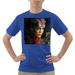 Digital Fantasy Girl Art Dark T Shirt