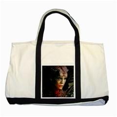 Digital Fantasy Girl Art Two Tone Tote Bag