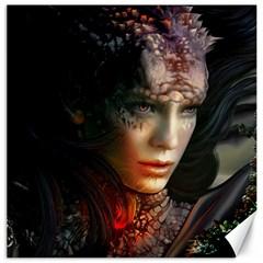 Digital Fantasy Girl Art Canvas 16  X 16