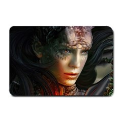 Digital Fantasy Girl Art Small Doormat