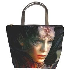 Digital Fantasy Girl Art Bucket Bags