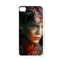 Digital Fantasy Girl Art Apple Iphone 4 Case (white)