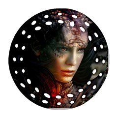 Digital Fantasy Girl Art Ornament (round Filigree)