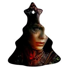 Digital Fantasy Girl Art Ornament (christmas Tree)