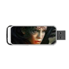 Digital Fantasy Girl Art Portable Usb Flash (two Sides)