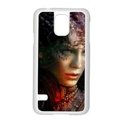 Digital Fantasy Girl Art Samsung Galaxy S5 Case (white)