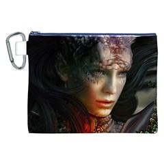 Digital Fantasy Girl Art Canvas Cosmetic Bag (xxl)